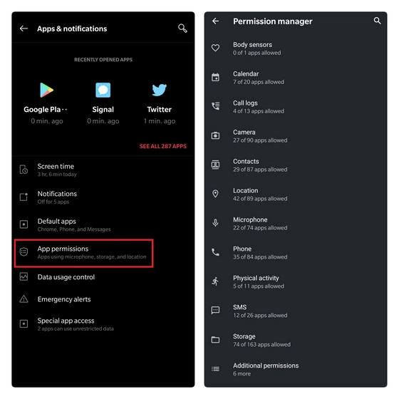 permission manager android