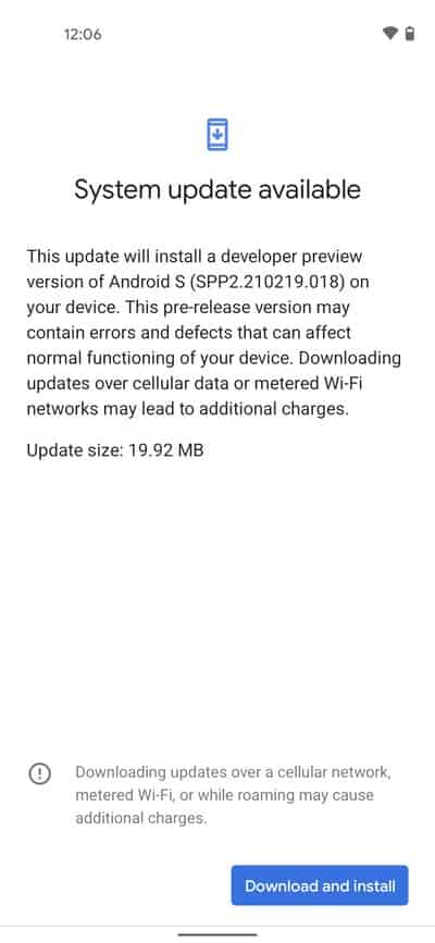 Android 12 2.2